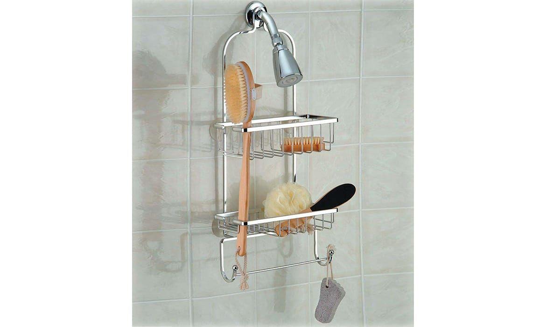 Bathroom Hanging Shower Racks with 2 Hook and Towel Bar | Bathroom ...