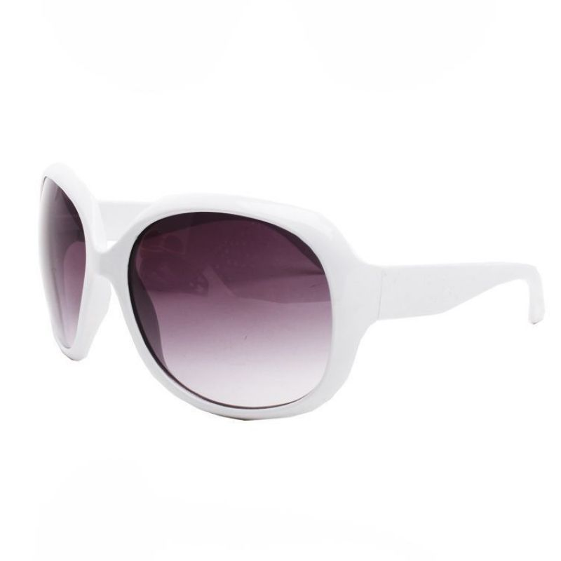Womens Oversized Butterfly Sunglasses Plastic Polished White Frame ...
