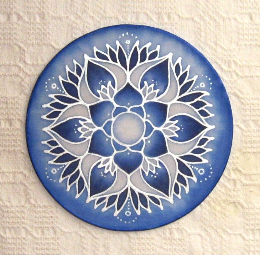 silk window mandala, 15 cm wire frame, 10 euro or $15 AUS