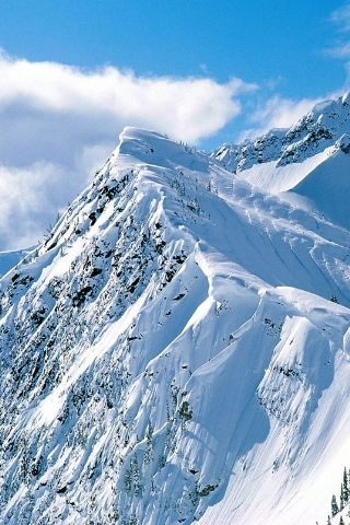Snowy Mountain Peaks Iphone Wallpaper Canada Mountains
