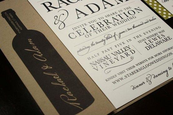 wine themed wedding invitations