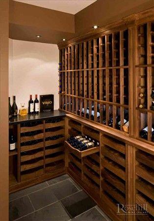 Sliding Display Drawers Walnut Home Wine Cellars Wine Cellar