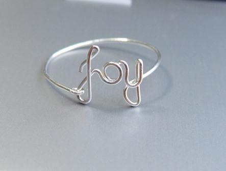 Sterling Silver Joy Ring, Wire Joy Ring, Silver