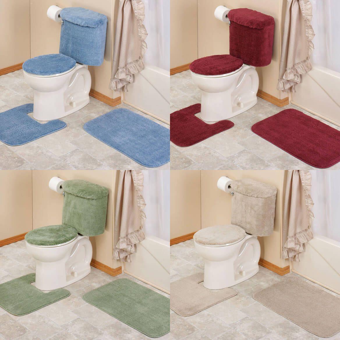 Five Piece Bathroom Set Rug, Five Piece Bathroom Rug Sets