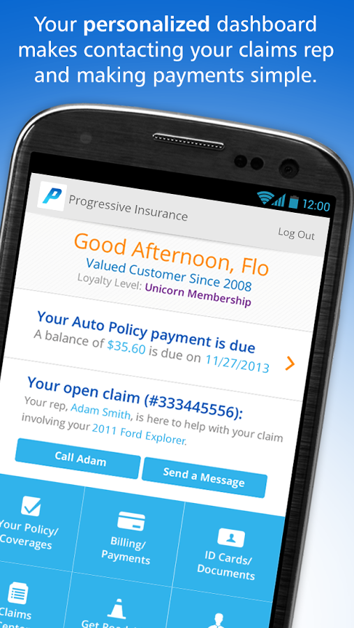 Download link for Android app for Progressive Insurance