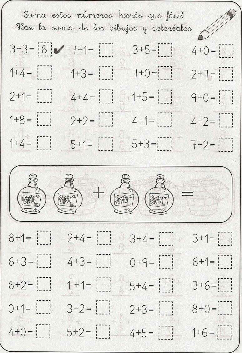 Sumas primero | 1 класс | Pinterest | Math, Kindergarten math and ...