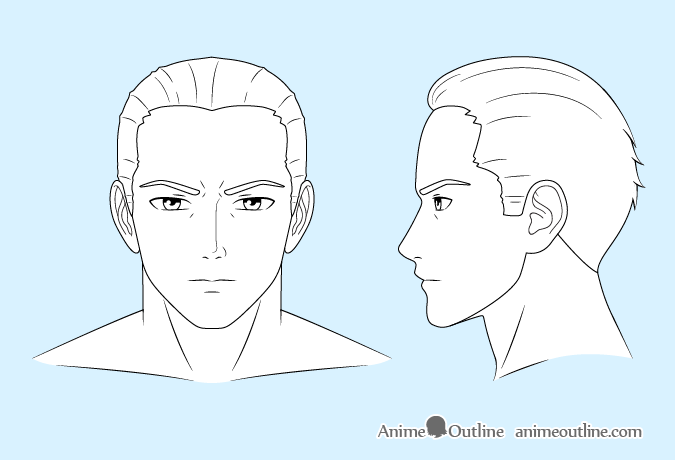 Anime Man Line Drawing Drawing Tutorial Face Guy Drawing Drawing Tutorial