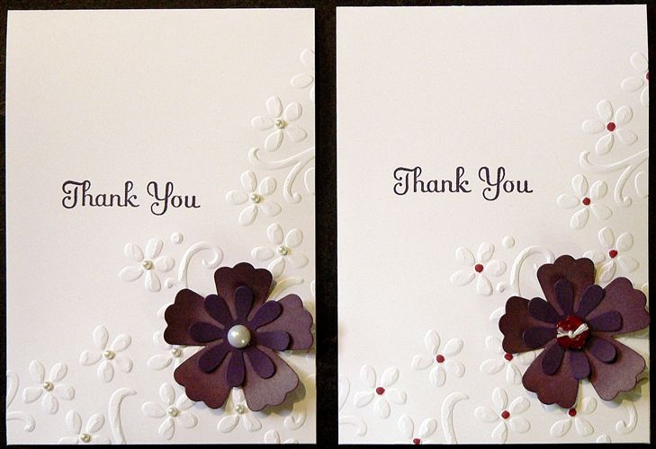 Embossed thank you embossed cards cards place card holders