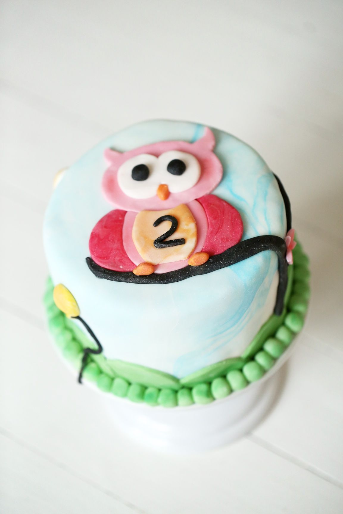 Birthday cake for a 2-year