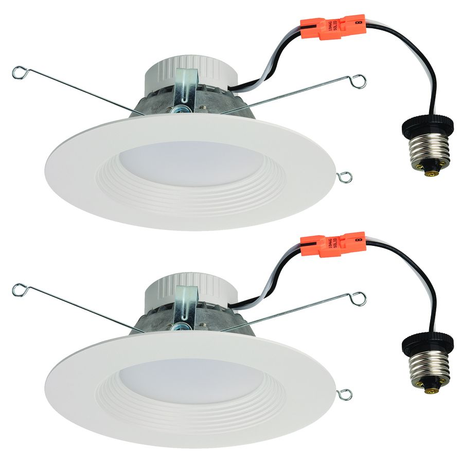 4c35c239e09 Utilitech 2-Pack 65-Watt Equivalent White LED Recessed Retrofit Downlights (Fits  Housing Diameter  5-in or 6-in)