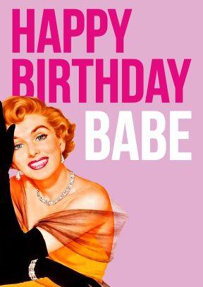 Happy Birthday Babe | Birthday Card | £2.99