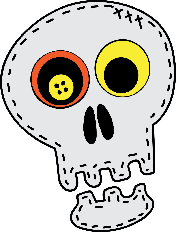 Vintage Halloween Skeleton Head SVG File Great For Mini Album Cards T