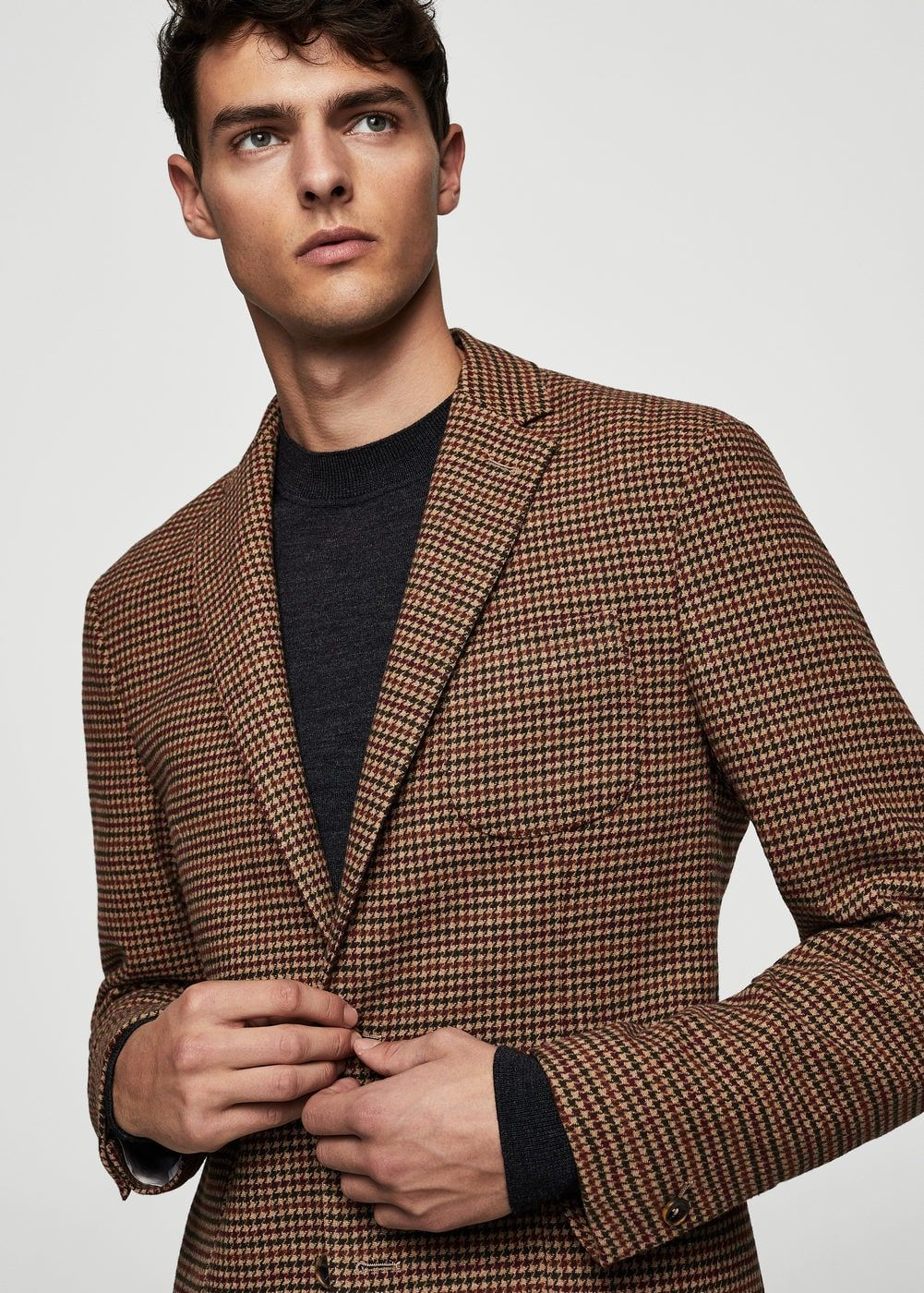 f7d573969 Americana slim-fit lana pata de gallo - Americanas de Hombre | moda ...