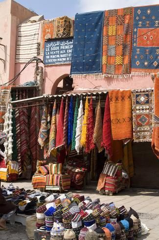 size: 24x16in Photo: Place De Criee (Carpet Market), Marrakech, Morocco by Natalie Tepper :