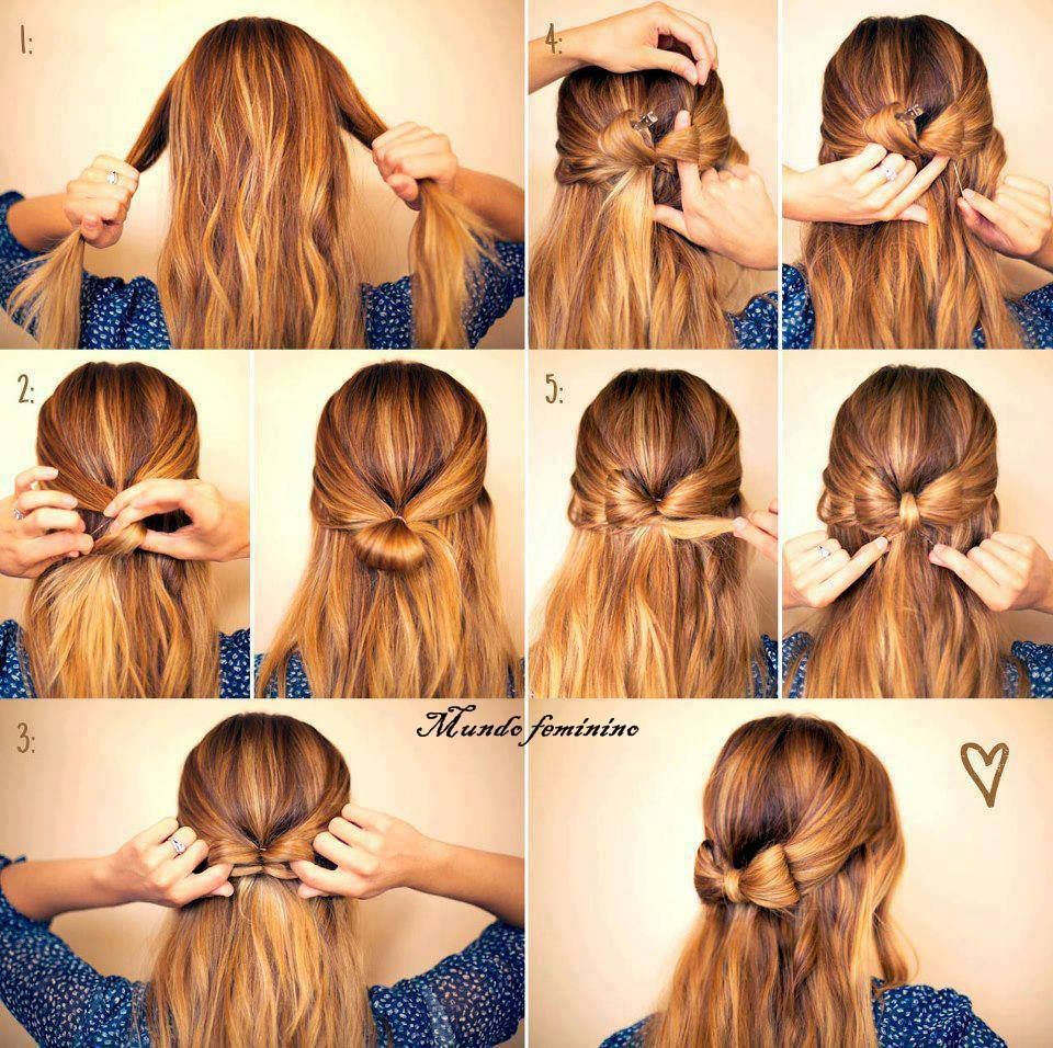 Half up bow hairstyle do it yourself hair pinterest hair