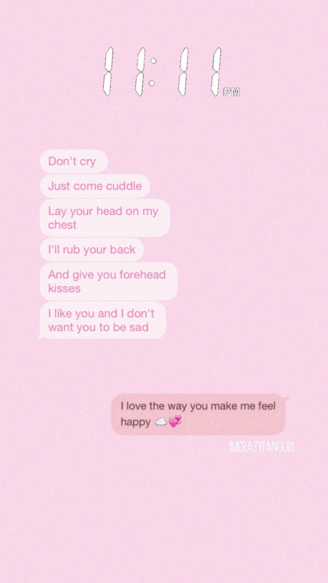 Pink Chat Favouritechat Conversation Lockscreen Aesthetic
