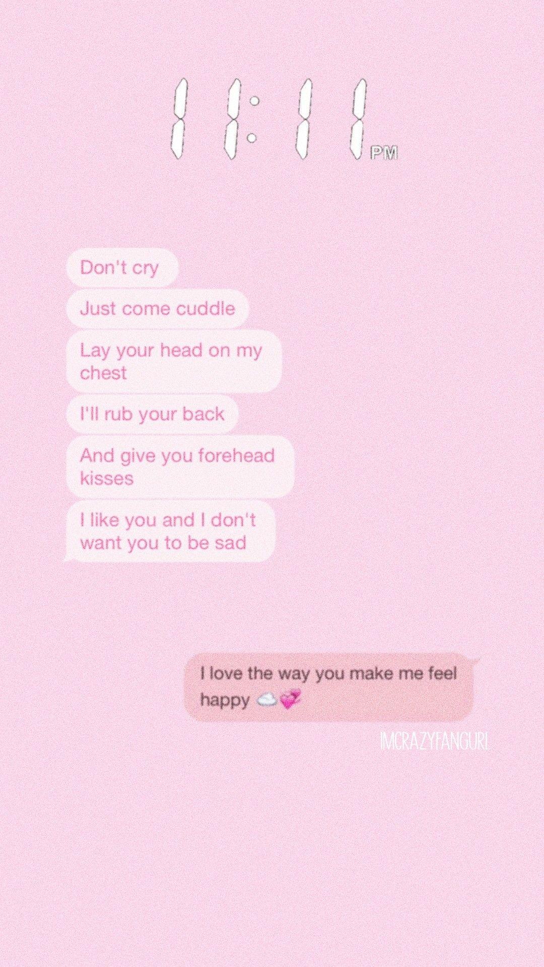 pink chat favouritechat conversation lockscreen