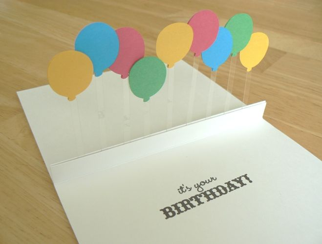 Adorable Stand Up Balloon Card Homemade Birthday Cards Inspirational Cards Birthday Card Pop Up