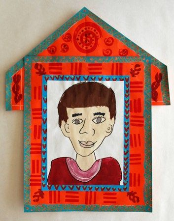 """another example-Self Portraits in Frida Kahlo's style in Nicho Frame"""""""