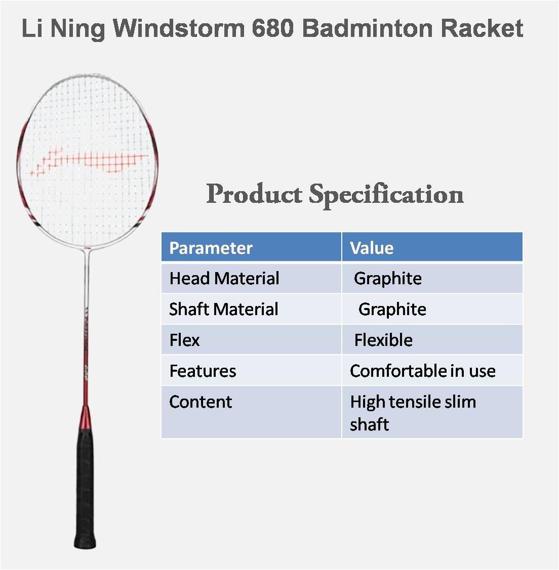 Li Ning Windstorm 680 Badminton Racket Http Www Khelmart Com Badminton Items Li Ning Windstorm 680 Badminton Racket Aspx