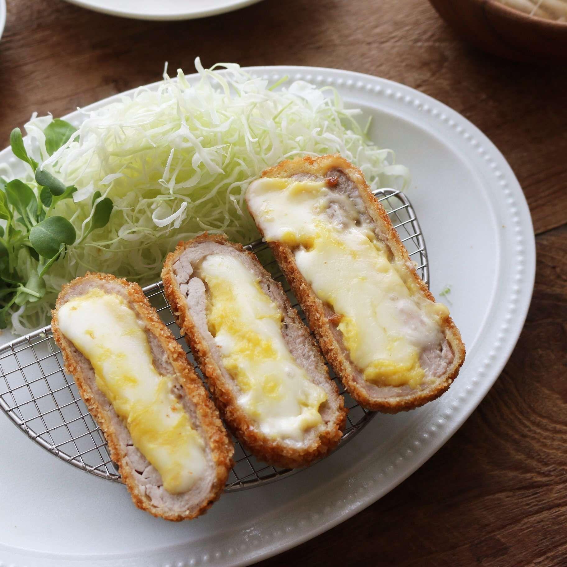 고구마치즈롤돈가스 (Sweet Potato Cheese Pork Cutlet)