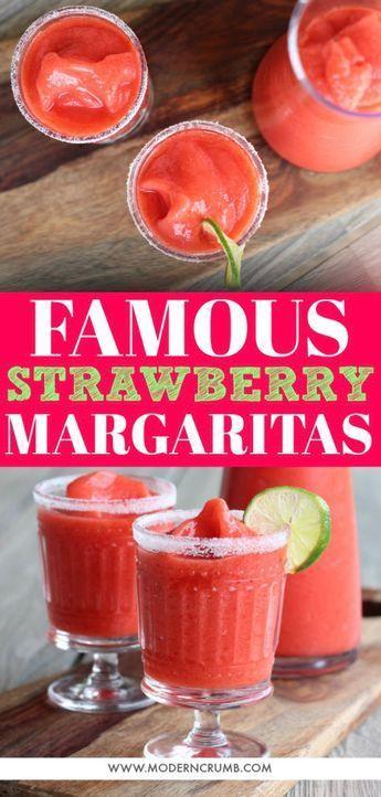 Famous Frozen Strawberry Margaritas - Modern Crumb