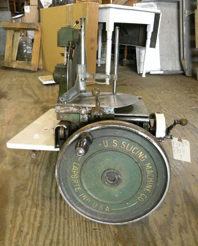 Antique Hand Crank Berkel Meat Slicer U S Slicing Machine #Berkel