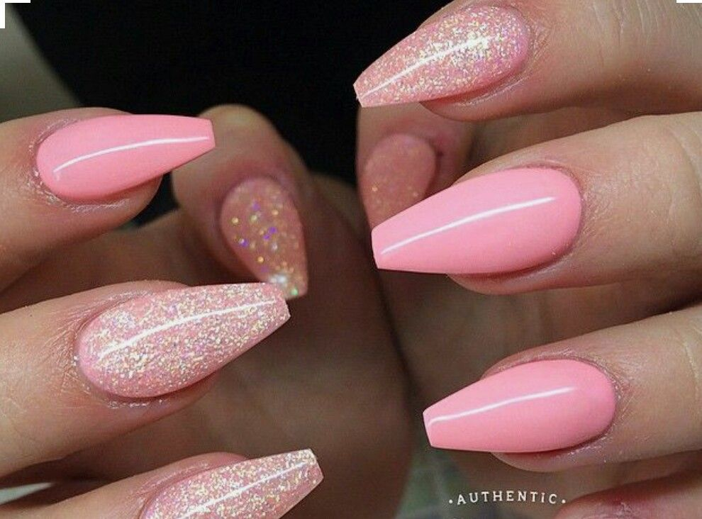 Acrylic Nails Coffin Matte Acrylic Nail Designs Coffin Coffin Nails Pink Gel Nails