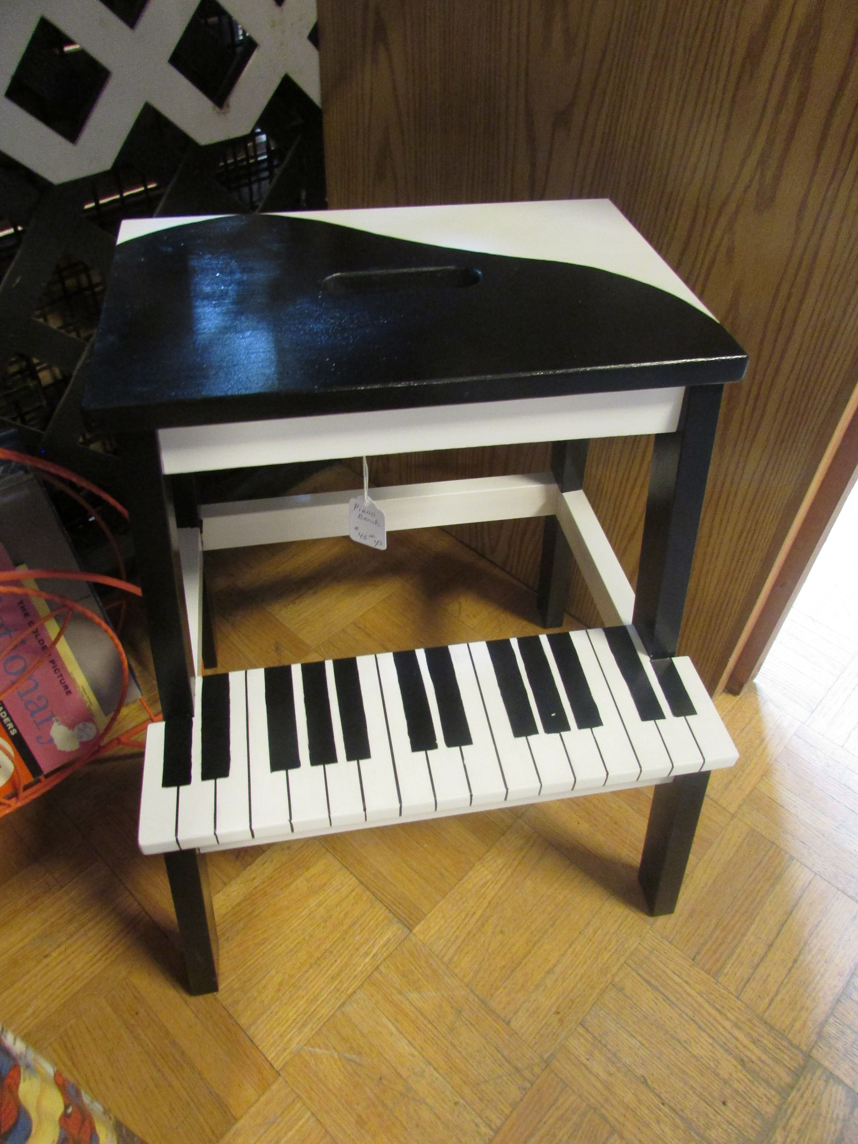 Fantastic Great Little Step Stool Painted Like A Grand Piano Such Machost Co Dining Chair Design Ideas Machostcouk
