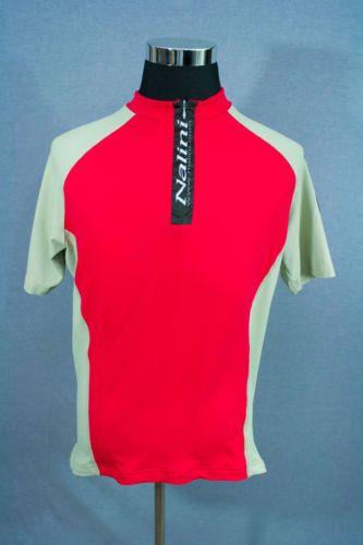 NALINI-Mens-Cycling-Shirt-Jersey-Tan-Red-Back-Pockets-Size-2XL