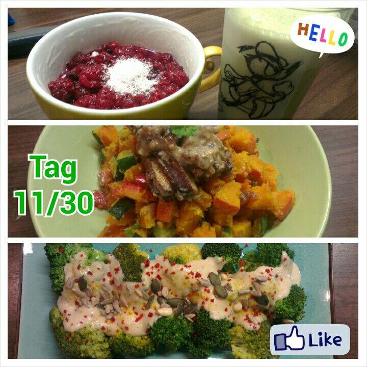 Joghurt-Amaranth-Pop, Kürbis-Paprika-Gemüse, Broccoholic!