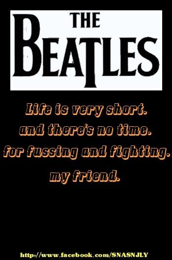 Quotes About Good Friends And Music : Beatles song quotes friend quote saying via