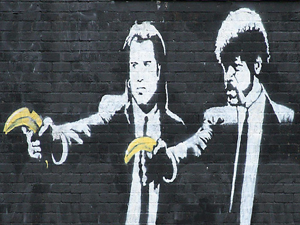 """Print on Glossy Paper or Canvas BANKSY  /""""I Love Life/""""  Street Artwork"""
