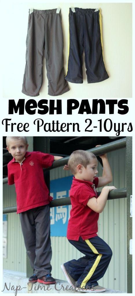 Jogginghose nähen - 2-10 Jahre, Kids Mesh Pants Pattern FREE and ...