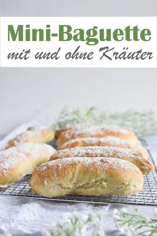 Mini-Baguettes. Mit und ohne Kräuter. #brunchideen