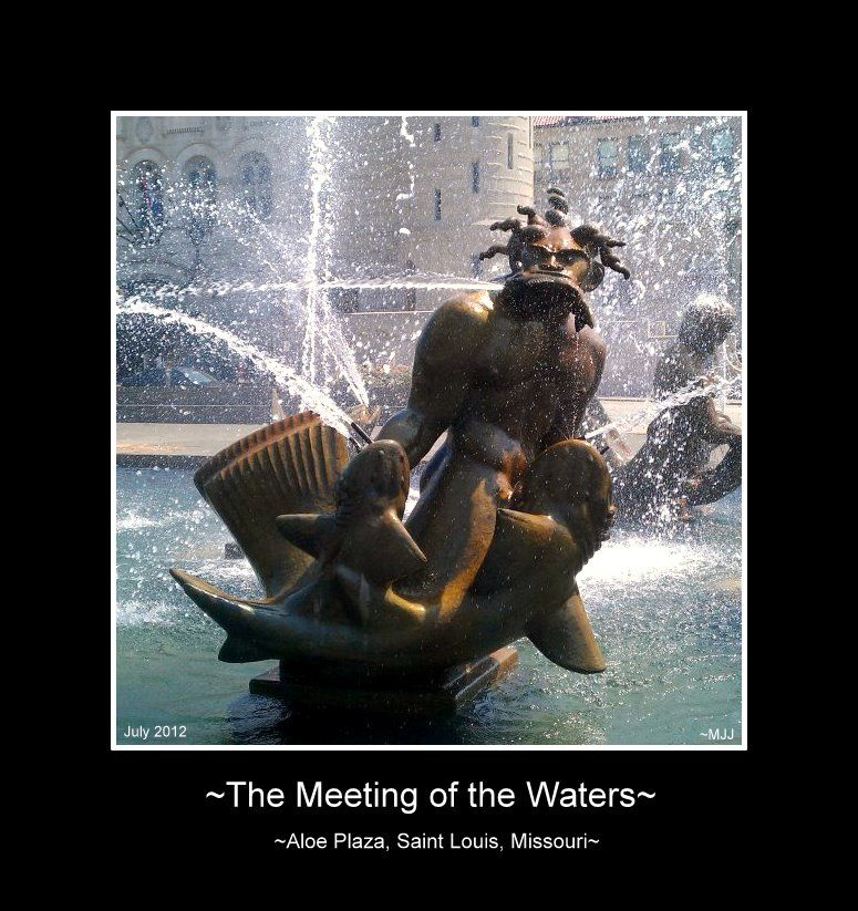 "~Swedish-born sculptor Carl Milles designed the beautiful sculptural fountain ""Meeting of the Waters"" in Aloe Plaza, located across Market St. from Union Station."
