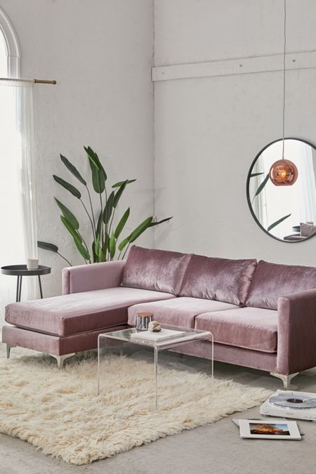 Fine Cecilia Ruched Velvet Sectional Sofa In 2019 My Dream Home Gmtry Best Dining Table And Chair Ideas Images Gmtryco