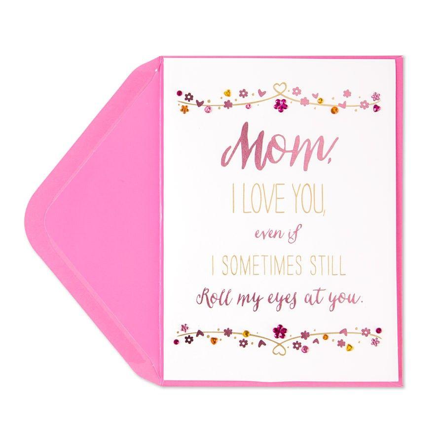 Eye Roll Birthday Card (For Mom)