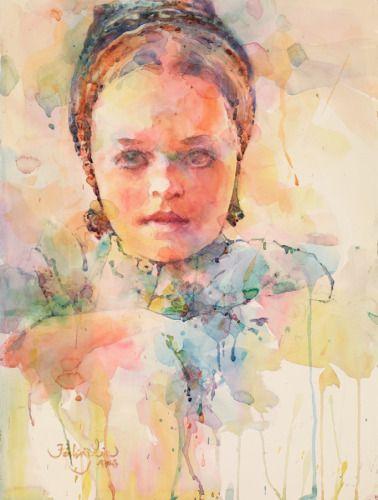 Fealing Lin Watercolors: Waiting