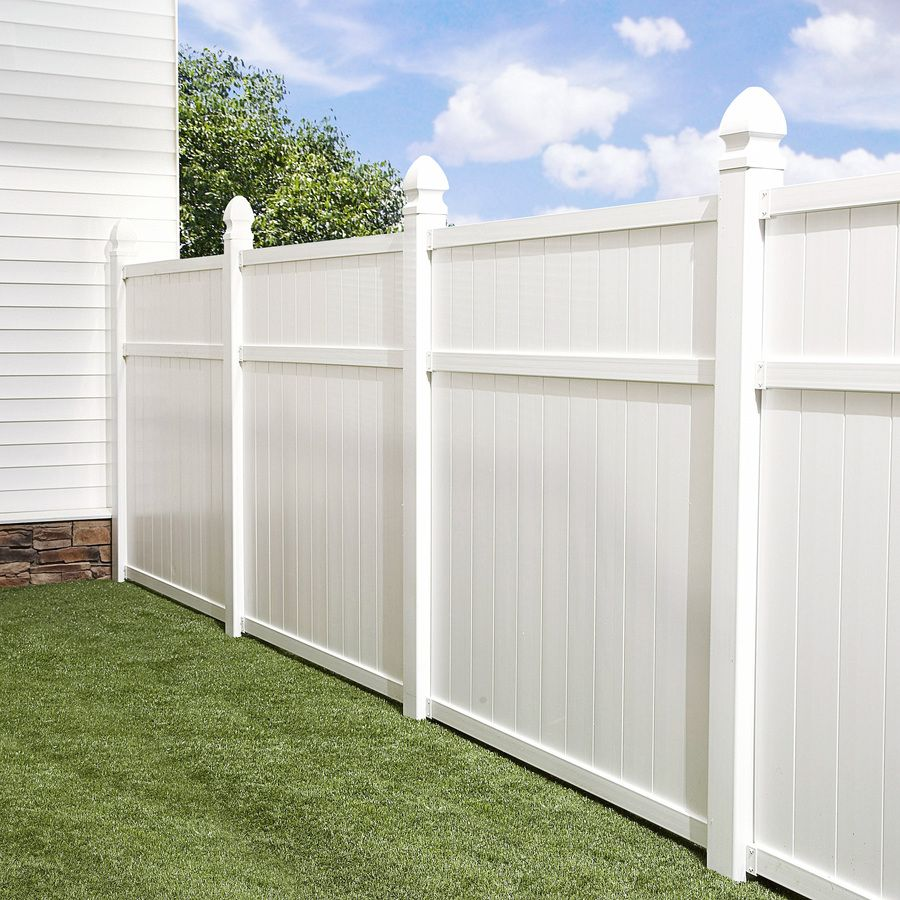 Shop Freedom Arborley White Privacy Vinyl Fence Panel