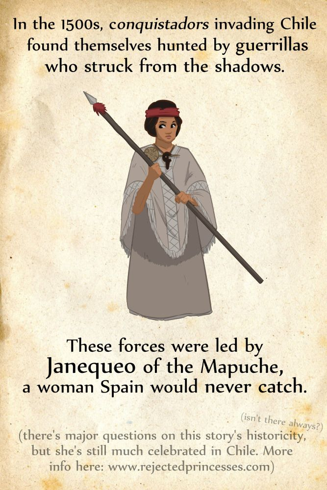 Rejected Princesses — Janequeo (late 1500s, Chile):  The Rebel Spain... #history