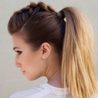Faux Mohawk Is Created By Braiding The Crown Area For Volume See