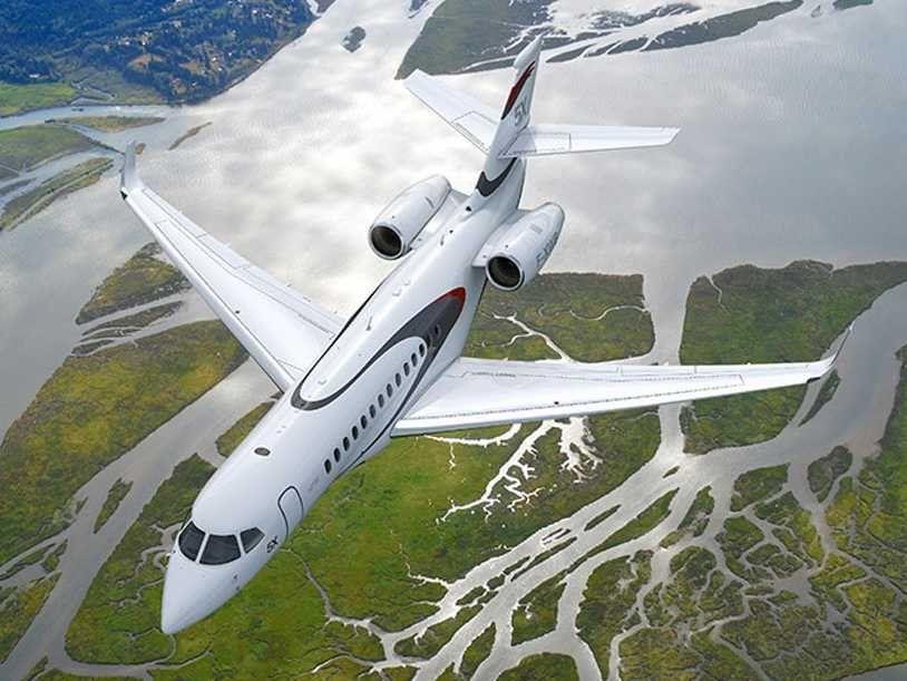 Tour The 45 Million Falcon 5x Private Jet Featuring A Skylight Private Jet Private Aircraft Aircraft