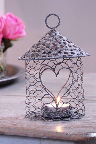 Wire tealight holders | Candles    | Chicken wire crafts, Chicken