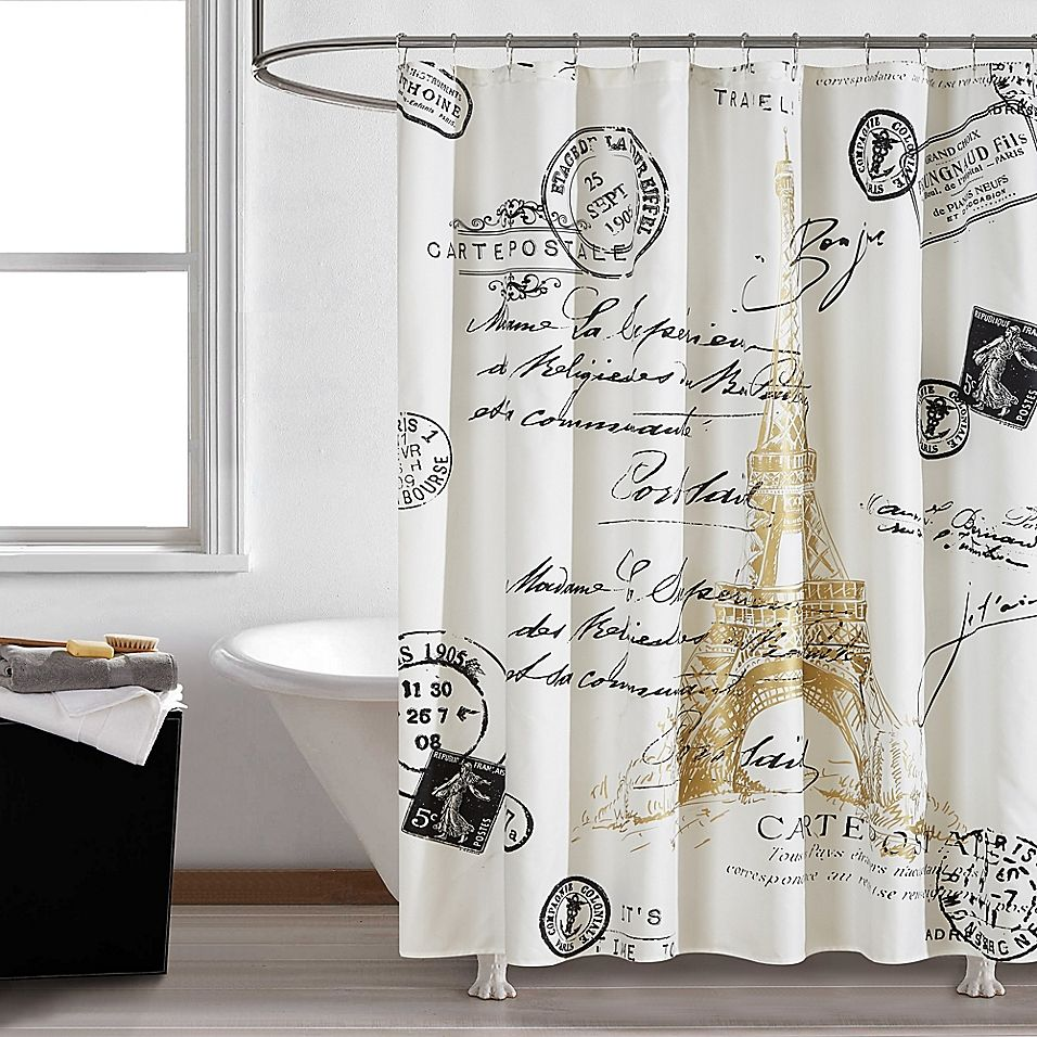 Paris Gold 72 Paris Bathroom Decor Gold Shower Curtain Paris Theme Bathroom