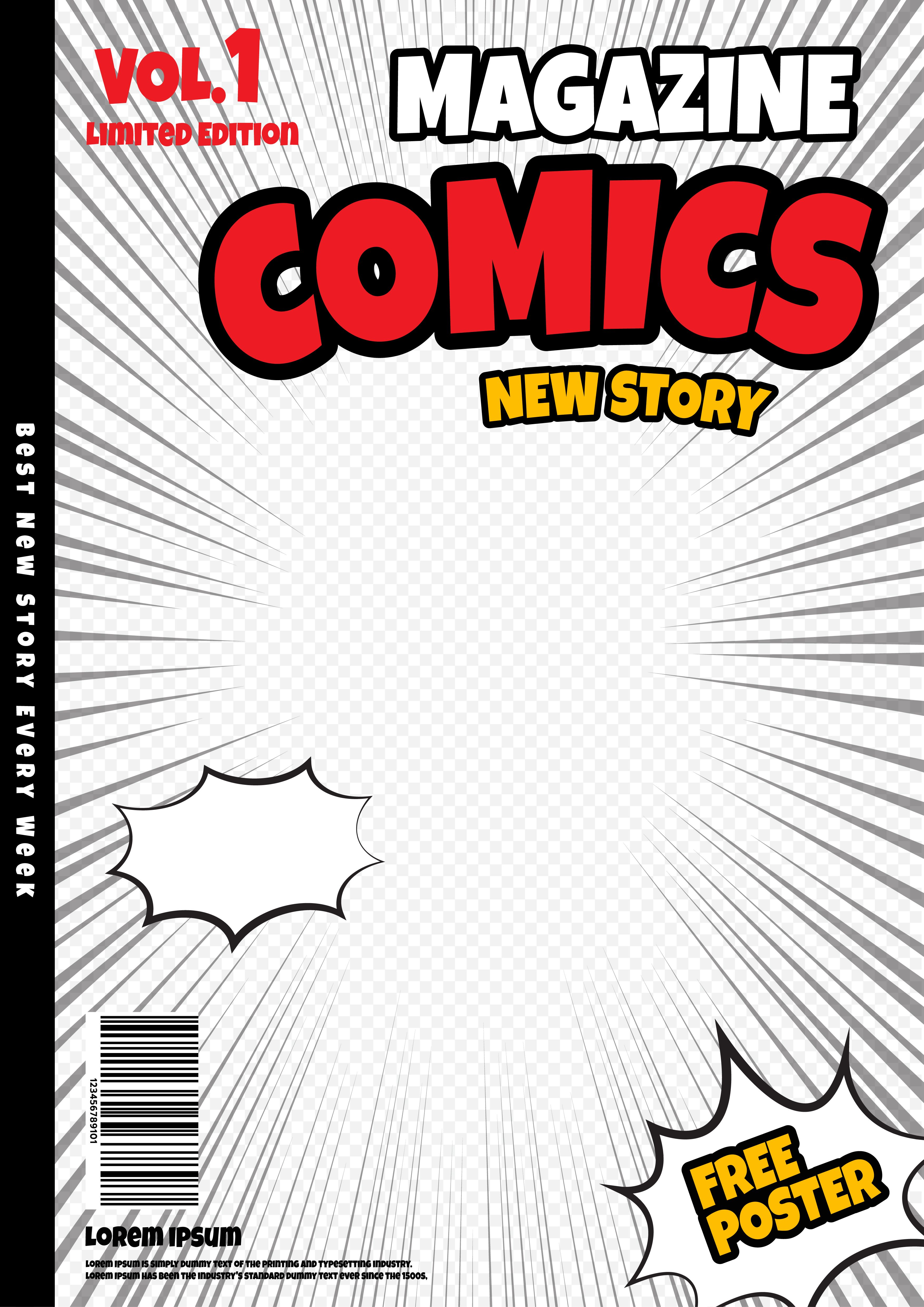 Photo Booth Idea Similar To Comic Page But Comic Cover Fill In White Seamless With Comic Cover G Book Cover Template Comic Book Pages Magazine Cover Template