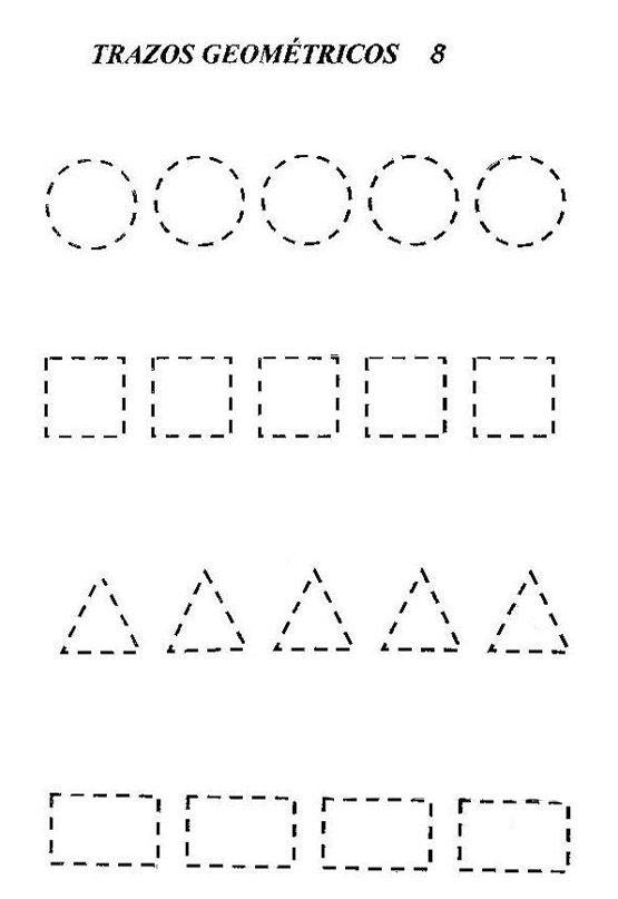triangulo tracejado - Pesquisa Google | Ideias pre escolar | Pinterest