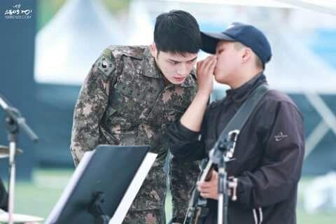 #KimJaeJoong Rehearsal for Jinhae Military band & honor guard festival