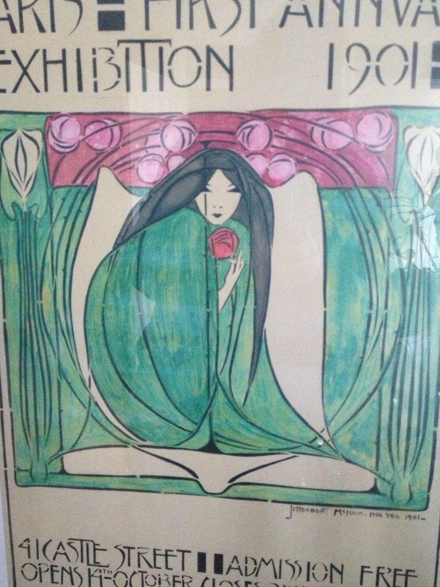 Margaret mackintosh Liverpool exhibition poster Art
