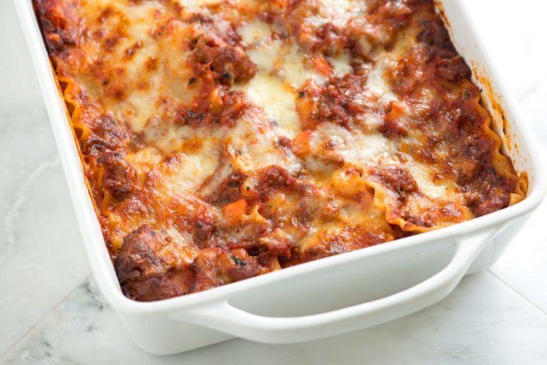Cheesy Sausage And Beef Lasagna Recipe Lasagna Recipe Baked Lasagna Classic Lasagna Recipe